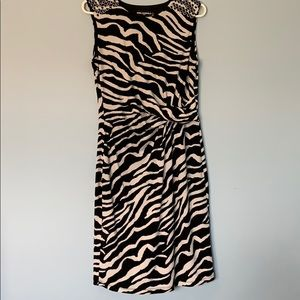 Black-and-white zebra dress